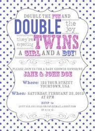 Photo  Twin Baby Shower Invitation ImageTwin Boy And Girl Baby Shower Ideas