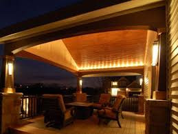 exterior deck lighting. Stunning Covered Patio Lighting Ideas Mood With Fireplace Outdoor Exterior Deck