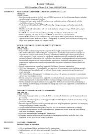 Communications Specialist Resume Sample Corporate Communications Specialist Resumes Enderrealtyparkco 16