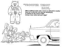 Road Safety Coloring Pages For Advice Stranger Danger Idaho State