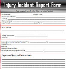 Incident Report Template Microsoft Sample Incident Report Letter