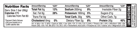 chocolate mint nutritional facts