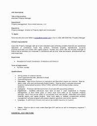 Property Manager Cover Letter Elegant Sample Resume Cover Letter