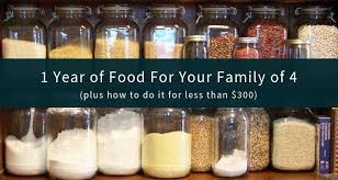 The Best 1 Year Emergency Food Supply For Families 4 People