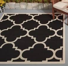 safavieh court yard black beige indoor outdoor area rug 6 7 x 9