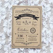 best 25 reception only invitations ideas on pinterest reception Wedding Reception Only Invitations black diy reception only invitation sample printed on kraft paper wedding reception only invitations wording