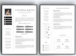 Two Page Resume Header 1 Page Resume Example Two Page Resume