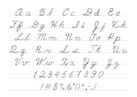 Cursive Letter Chart Free Printable 10 Capital Letters In Cursive Lycee St Louis