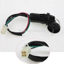 popular ignition switch wiring buy cheap ignition switch wiring shipping atv key ignition switch 4 wires 4 pins female plug on body50 70 90