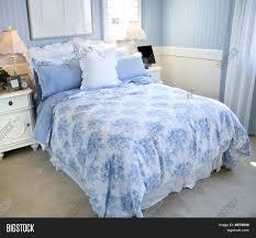 Light Blue Bedroom Beautiful Light Blue Bedroom Stock Photo Stock Images Bigstock