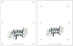 Printable Thank You Cards Freebie Printable Thank You Card