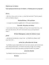 Citations Sur Le Théâtre Comedy Theatre