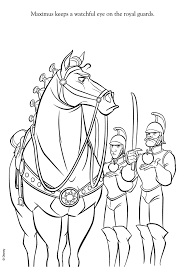 Small Picture Tangled maximus coloring pages