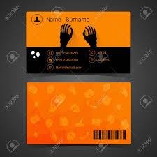 Halloween Business Cards Business Card Concept Of Halloween