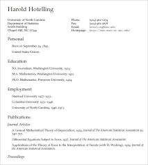 Latex Resume Template Professional