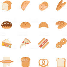 Color Icon Set Bread And Bakery Stock Vector Art More Images Of