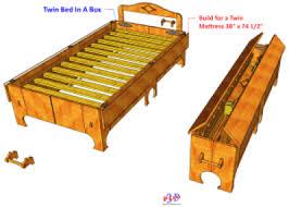 bed in a box plans. 01 Twin Bed N Box In A Plans C