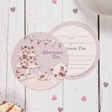 vine afternoon tea coaster invitations