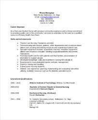 Nursing Objective Resume Free Resume Templates 2018
