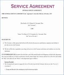 Simple Service Contract 002 Example Of Service Contract Template Ideas For Services