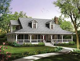 country house plans with wrap around porch style