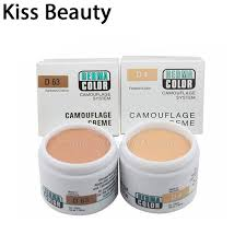 kiss beauty dermacolor camouflage creme 30g makeup cover face concealer cream make up kryolan flawless light