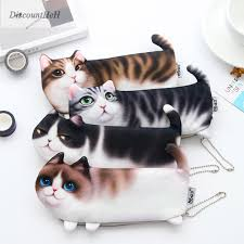 2018 cute cat makeup case travel organizer cosmetic bags neceser toiletry cosmetics pencil case 3d printing storage pouch gifts makeup