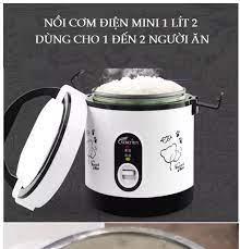 Nồi cơm điện mini kenly 1.2l có quai xách lòng rời, nồi cơm điện mini