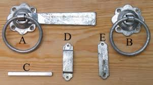 the named parts of a ring gate latch