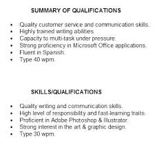 Summary Of Qualifications Resume Amazing 5517 How To Write Qualification In Resume Summary Of Qualifications For