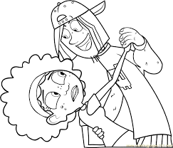 Small Picture Jimmy Z with KOki Coloring Page Free Wild Kratts Coloring Pages