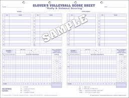 Glover's Volleyball Scorebooks