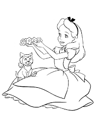 Small Picture alice in the wonderland coloring pages mad hatter alice