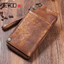 aetoo handmade leather wallet long wallet retro men hand bag leather large capacity zipper phone bag organizer vintage luxury leather goods las leather