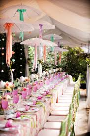 wedding shower images. Tea Party Garden Bridal Shower Table With Umbrella Decorations Wedding Images M