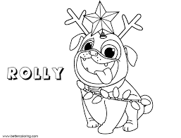 Rolly From Puppy Dog Pals Coloring Pages Free Printable Coloring Pages