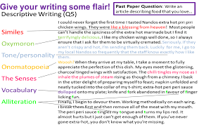 writing miss ryan s gcse english media description techniques