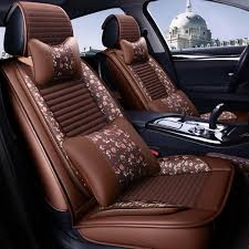 leather car front and back seat cover cushion protector with pillow universal for five seats car cod