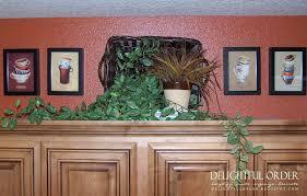 Kitchen Above Cabinet Decor Good Kitchen Cabinet Decor On Decorating Ideas Above Cabinets