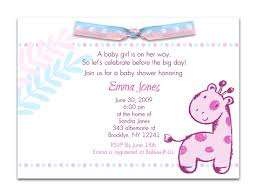 Sample Baby Shower Invitation Wording Iidaemilia Com