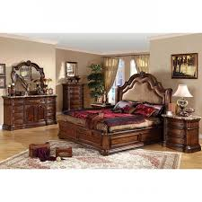 Outstanding King Size Bedroom Set Bedroom Set In Chestnut 55