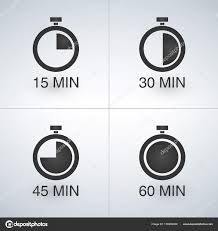 Set Timer For 15 Every 15 Minutes Timer Set Stock Vector Kyryloff 176990436