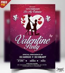 Valentines Flyers Valentines Day Flyer Free Psd Psd Zone