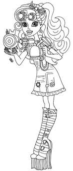 Small Picture Monster High Colouring Pages to Print ColouringBratzMonster