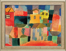 paul klee painting houses on the sea 1914 framed
