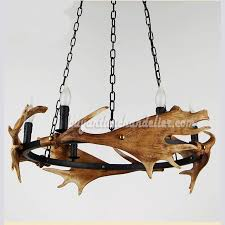 moose 4 horn antler chandelier 6 candle style ceiling lights rustic pendant lighting fixtures
