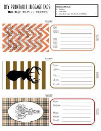 Printable Luggage Tags Printable Luggage Tags Holiday Travel Edition Projects To Try