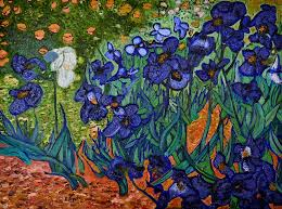 my irises inspired the master vincent van gogh painting vincent van gogh abstract art