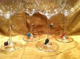 wine glass charms stemless clings 4 drinks