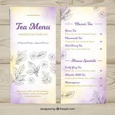 Watercolor Tea Menu Template Stock Images Page Everypixel